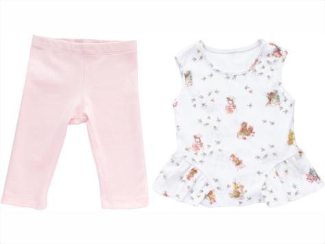 Conjunto Blusa + calça legging Capri Ratinhos
