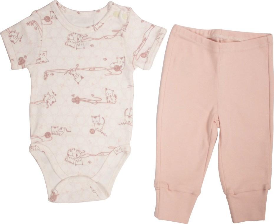 Conjunto Feminino Body + calça Estampado Little Cats BY BIBE