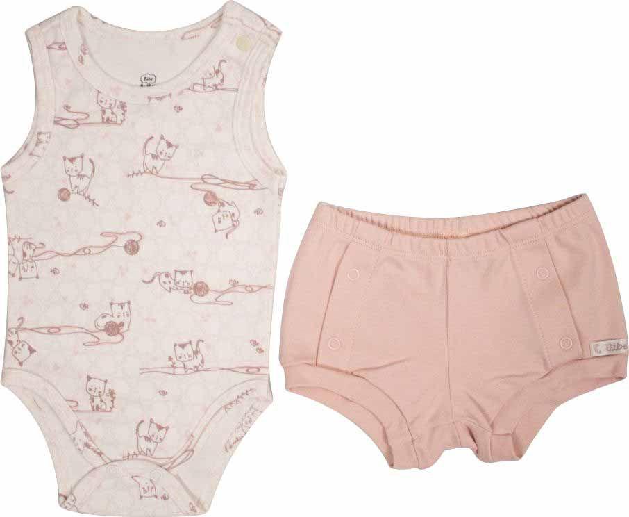 Conjunto Feminino Body + Short Little Cats