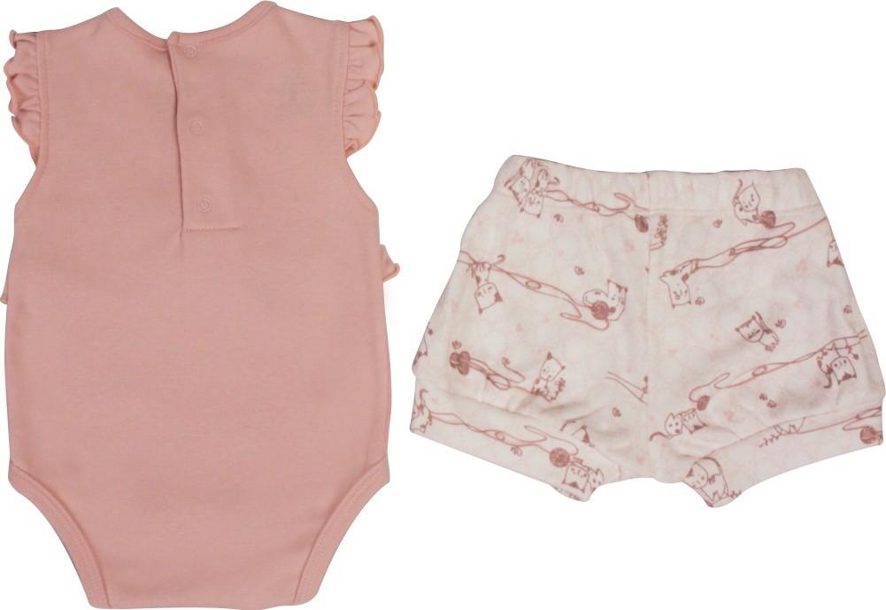 Conjunto Feminino Body + Short Little Cats BY BIBE