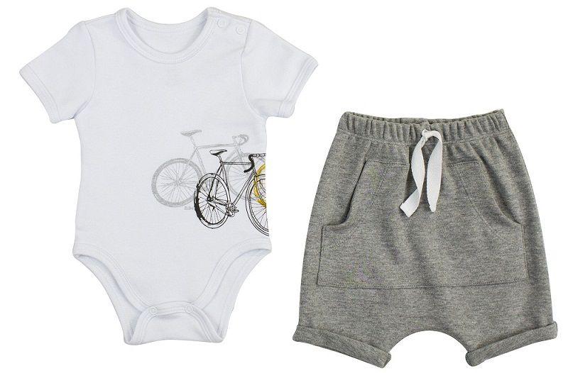 Conjunto Masculino Body ombro envelope + Short Bicicletas.