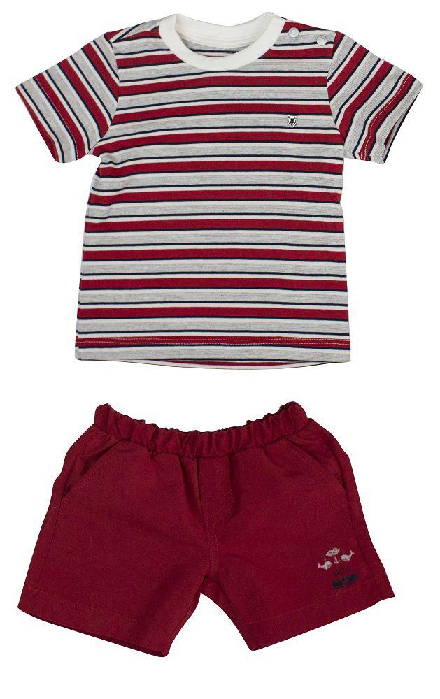 Conjunto Masculino Camisa Listrada + Bermuda.