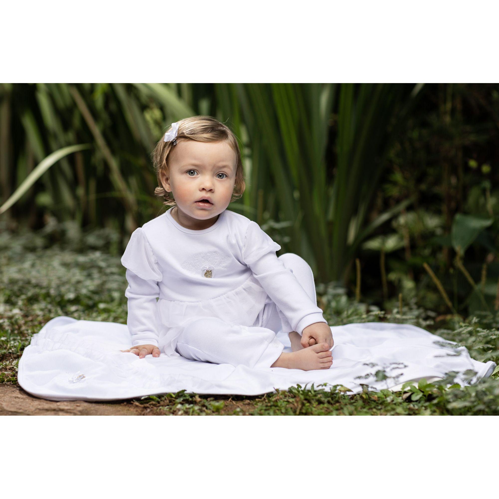 Conjunto Maternidade Feminino Babados Com Tule