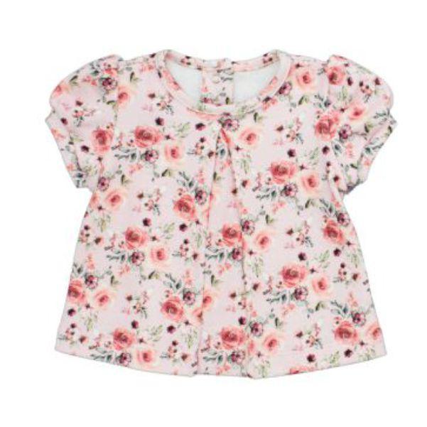 Conjunto Menina Blusa + Short 100% Algodão Rosas com Fadas
