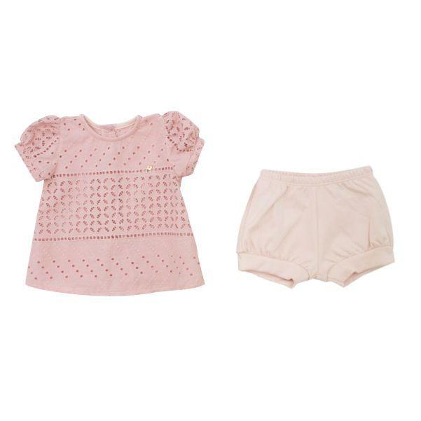 Conjunto Menina Blusa + Short Laise Rose