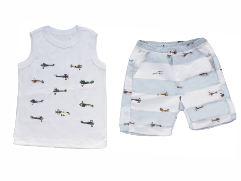 Conjunto Masculino Regata+ Bermuda Aviões