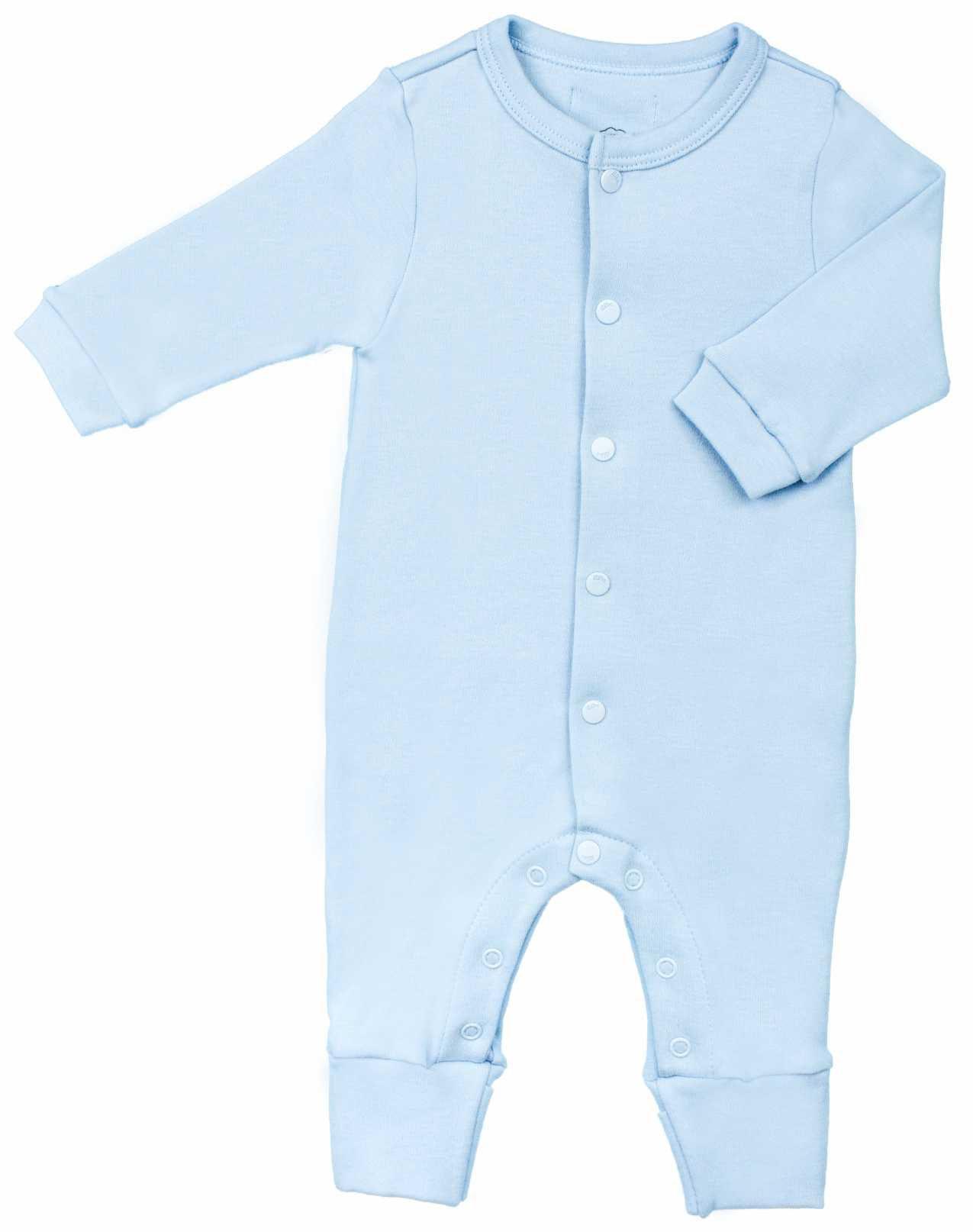 Macacão Unissex Bebê Básico Aberto na frente 100% Algodão BY BIBE