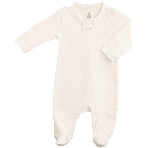 Macacão Bebê Básico Zíper Suedine 100% Algodão Egípcio BY BIBE