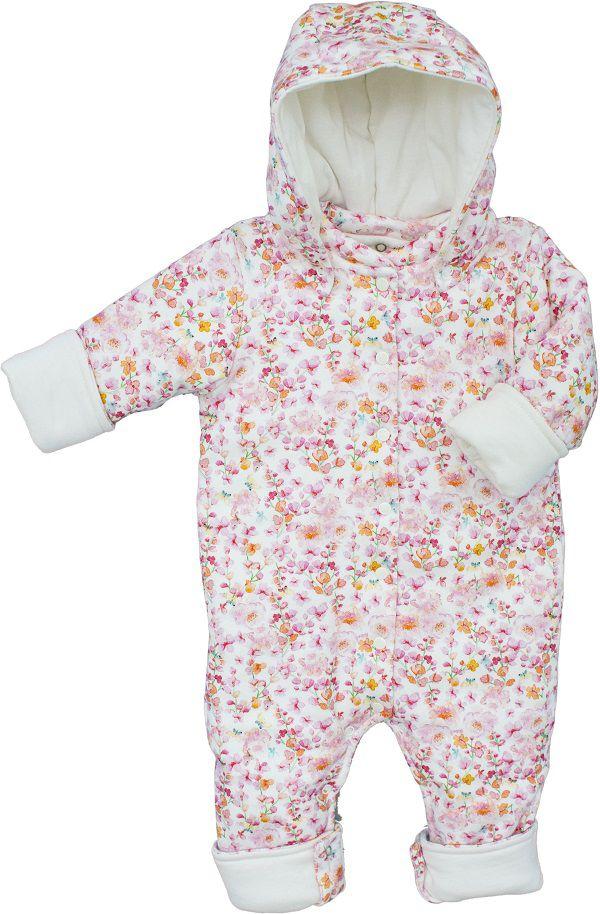 Macacão Bebê Fofinho menina Flores Aquareladas