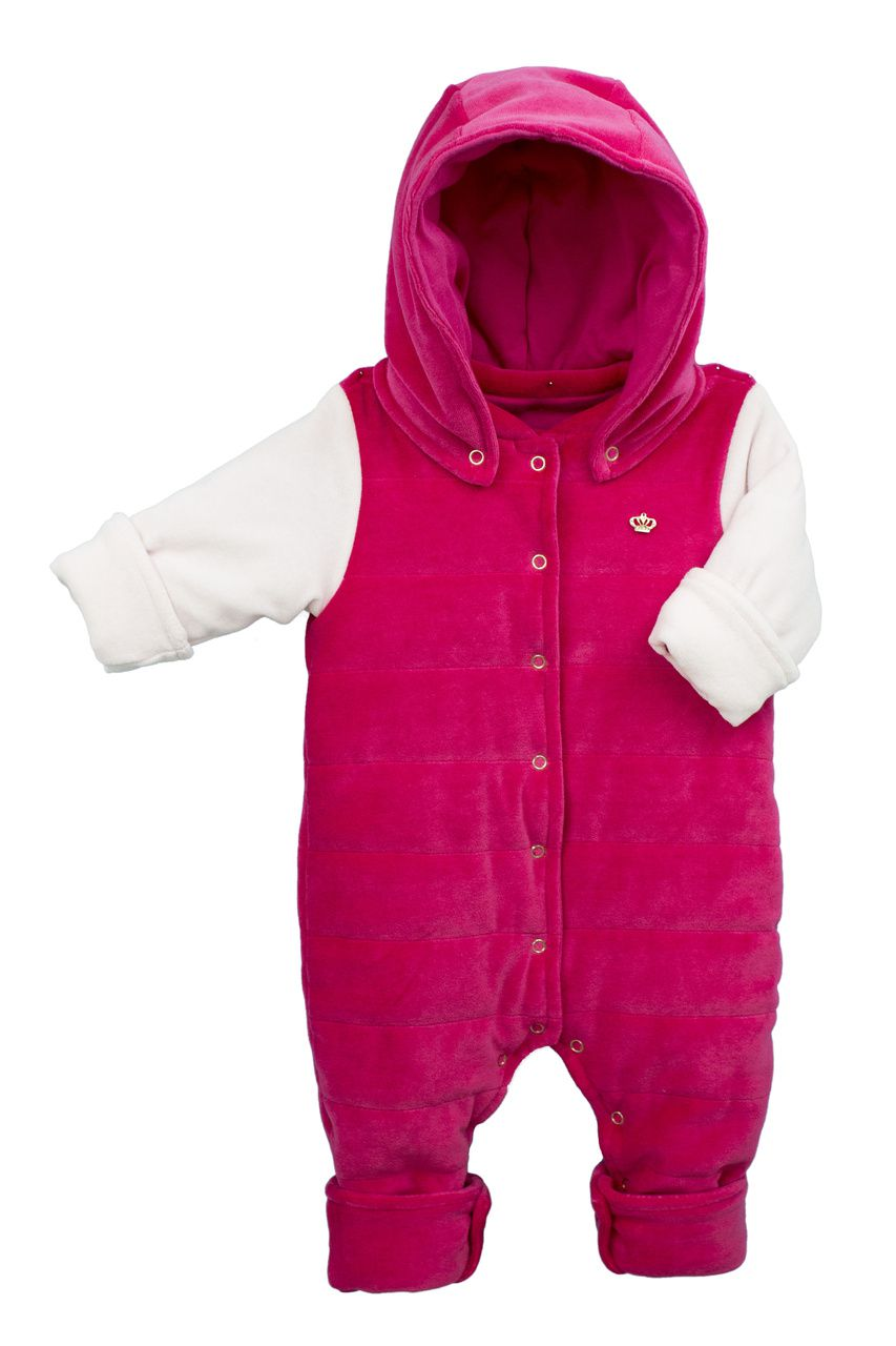 Macacão Bebê Fofinho menina Matelassê Pink