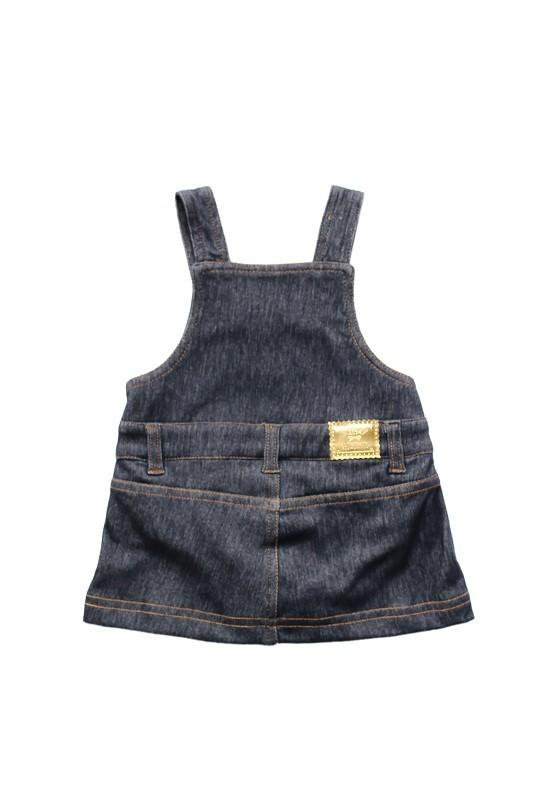 Salopete Bebê Comfort Jeans Menina BY BIBE