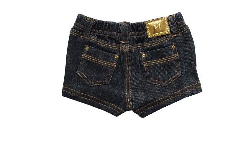 Short Jeans Feminino Comfort Denim Infantil