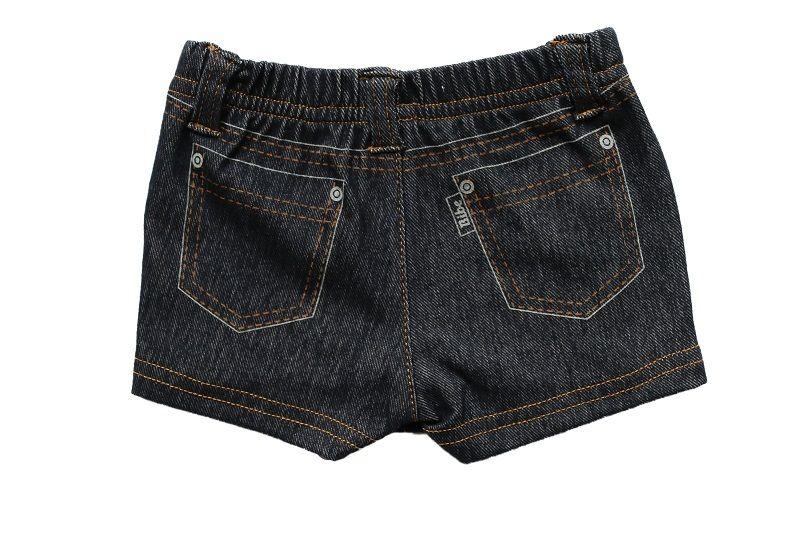Short Saia Jeans Feminino Trompe I`oeil