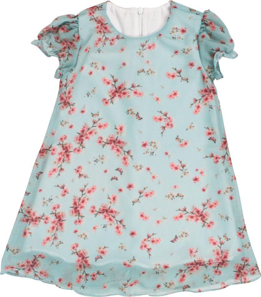 Vestido Feminino Chiffon Estampa Digital Primavera Infantil.