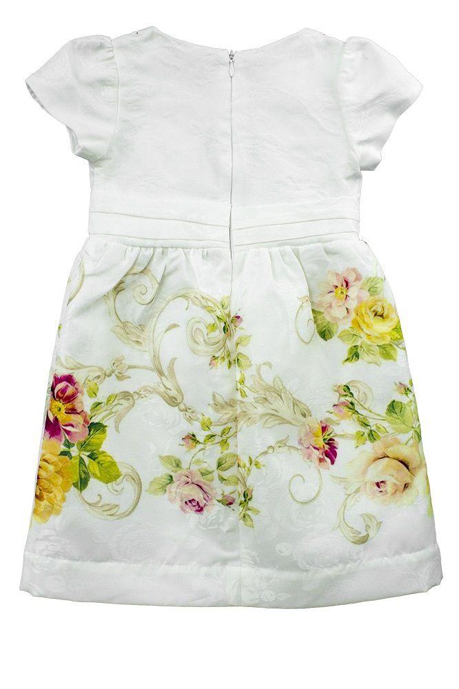 Vestido Feminino  Manga Curta Estampa Floral Infantil