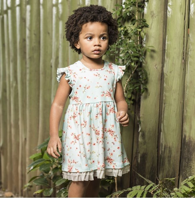 Vestido Feminino Manga Curta Primavera Infantil