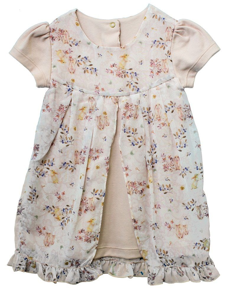 Vestido Manga Curta Suedine + Chiffon Chaves De 1 Segredo Infantil