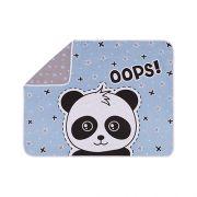 Manta Estampada Panda Azul