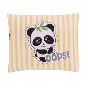 Travesseiro Com Fronha Estampada Panda Amarelo