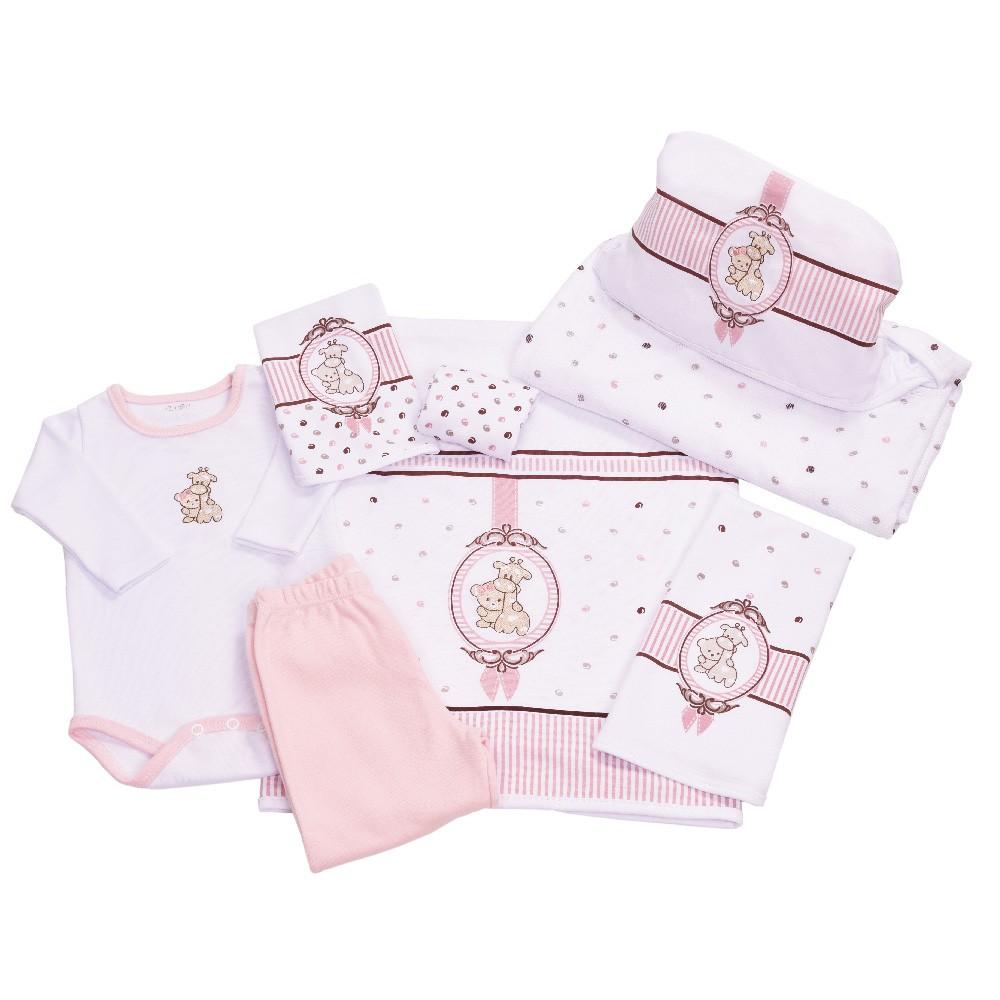Baby Kit Solzinho Camafeu Rosa