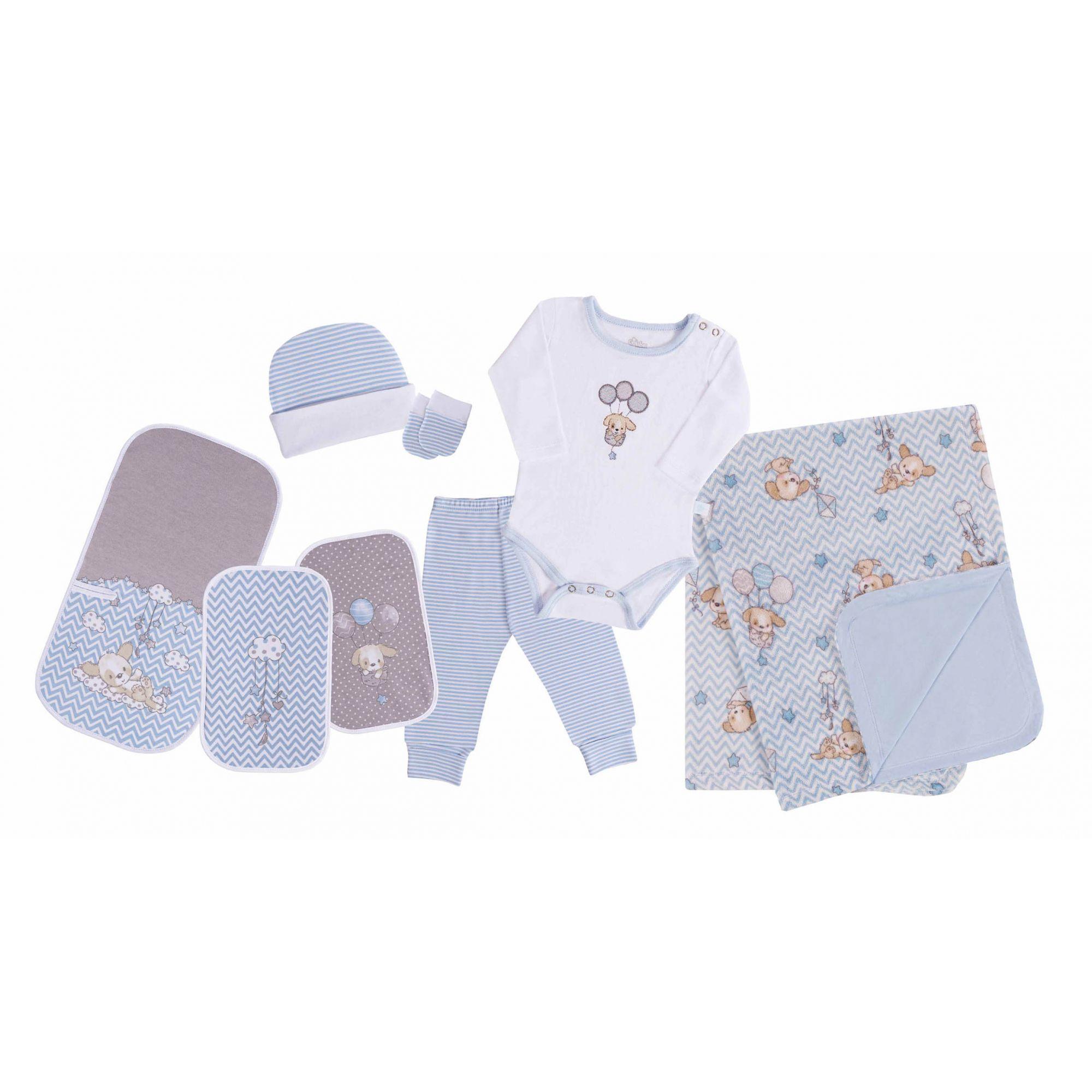 Baby Kit Nuvenzinha Cachorrinho Azul
