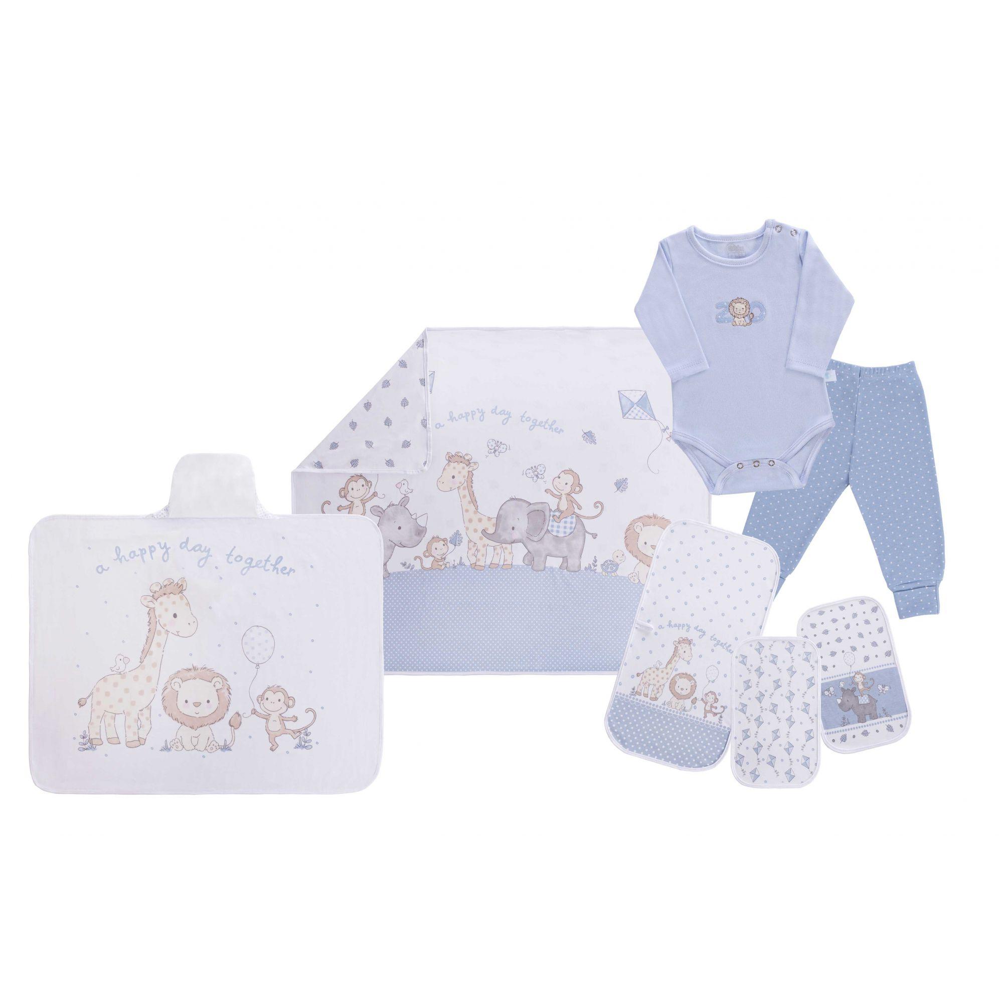 Baby Kit Solzinho Zoo Azul