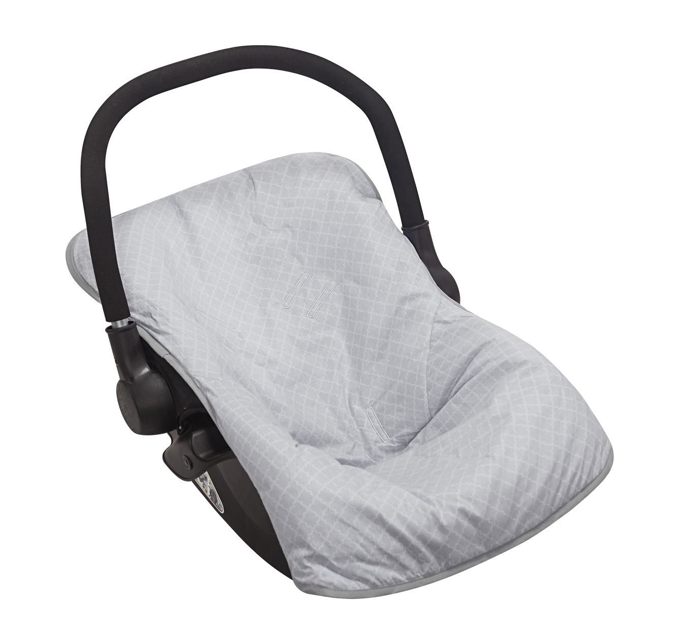 Capa para Bebê Conforto Arabesco Cinza