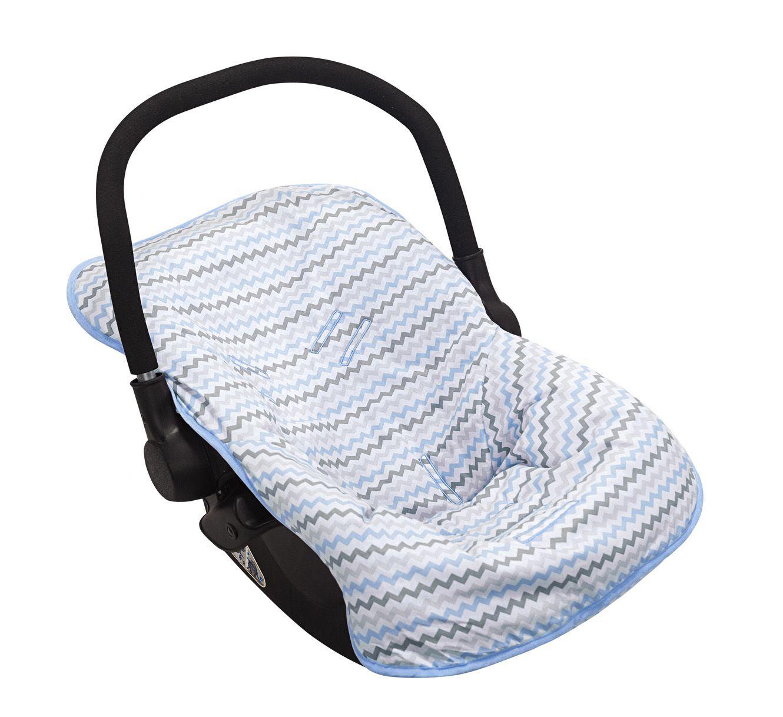 Capa para Bebê Conforto Chevron Azul