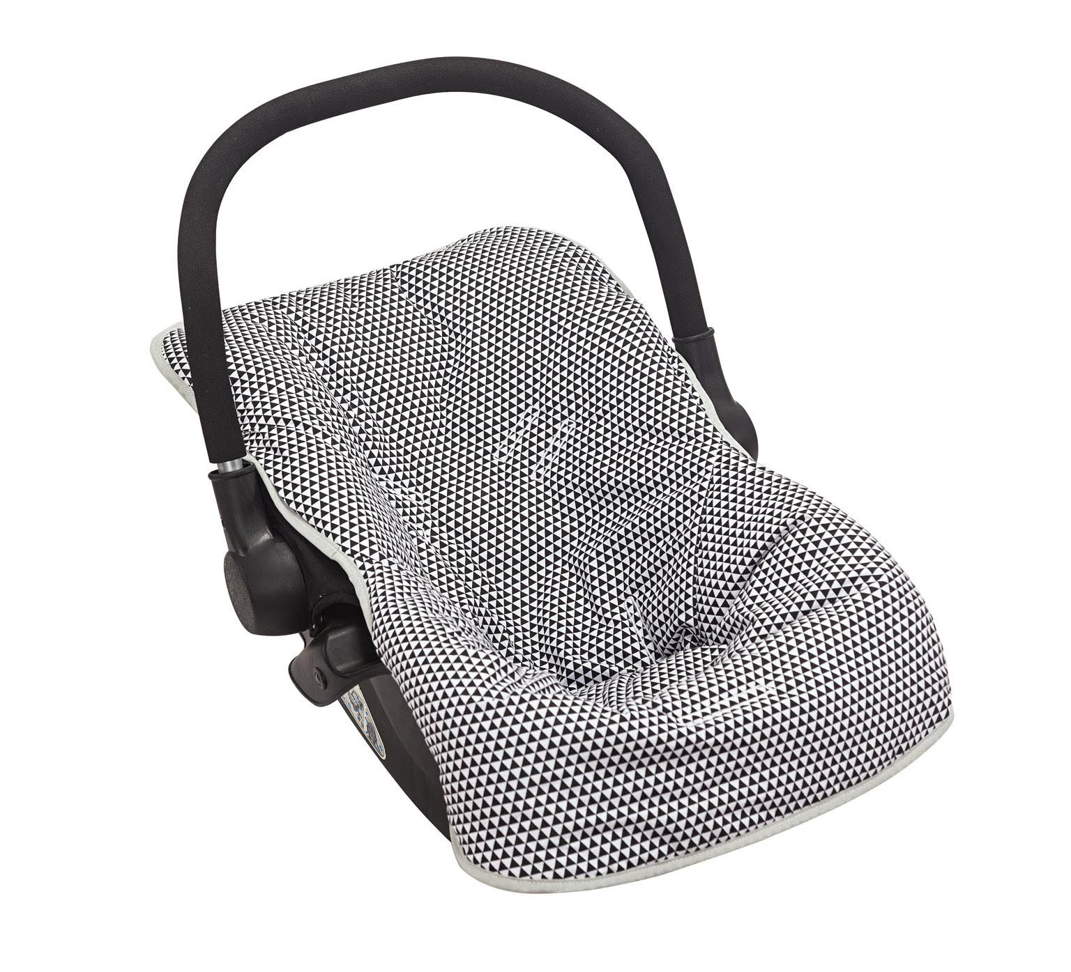 Capa para Bebê Conforto Triângulo Preto