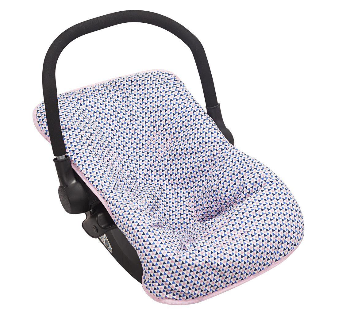 Capa para Bebê Conforto Triângulo Rosa