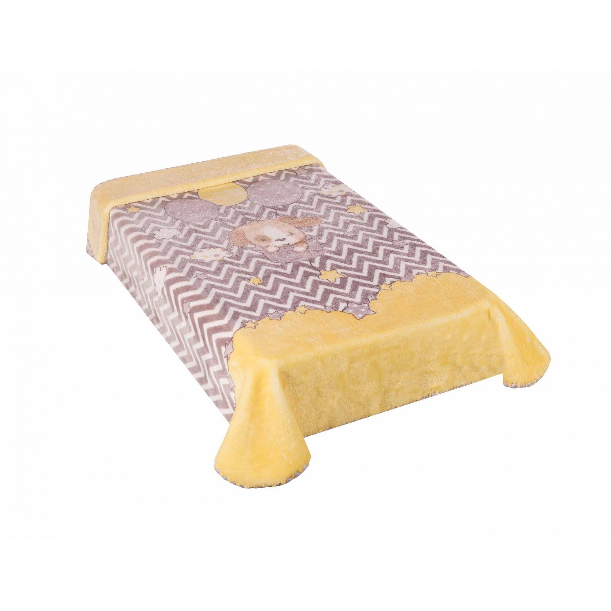 Cobertor Le Petit Cachorrinho Amarelo