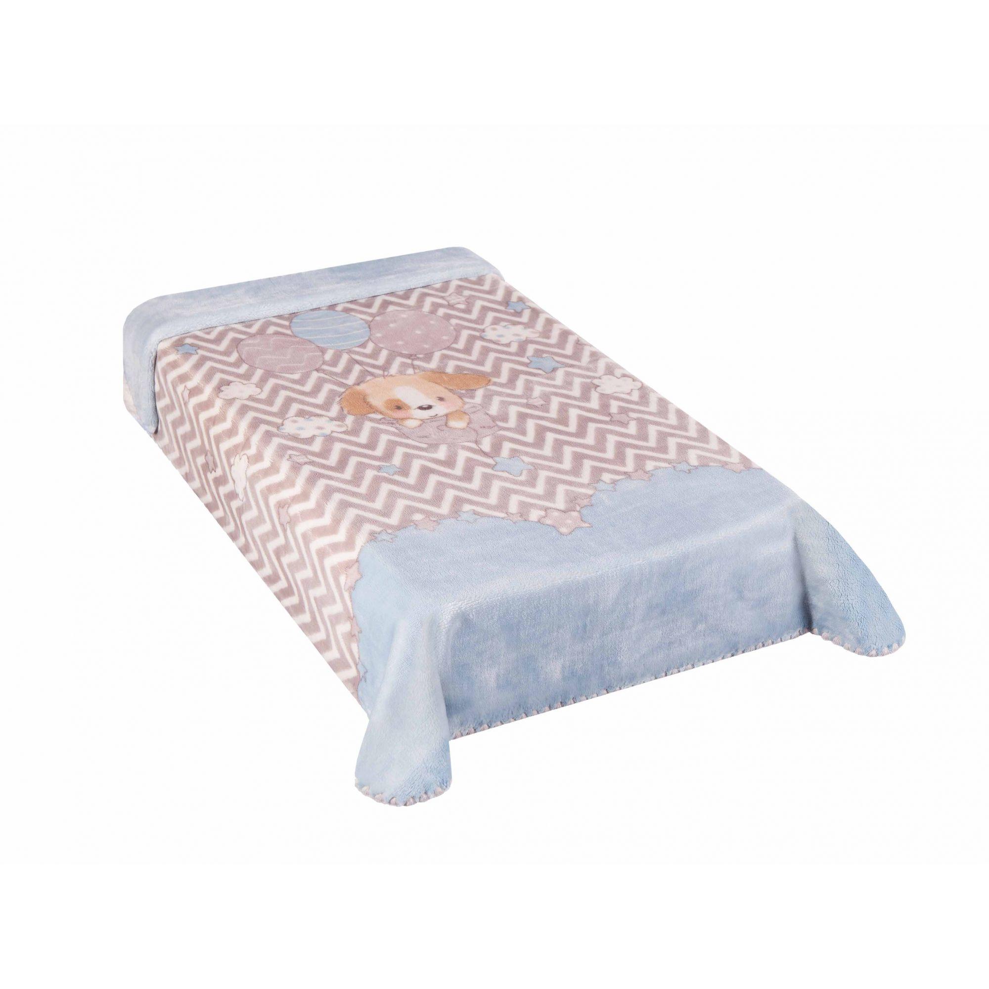 Cobertor Le Petit Cachorrinho Azul