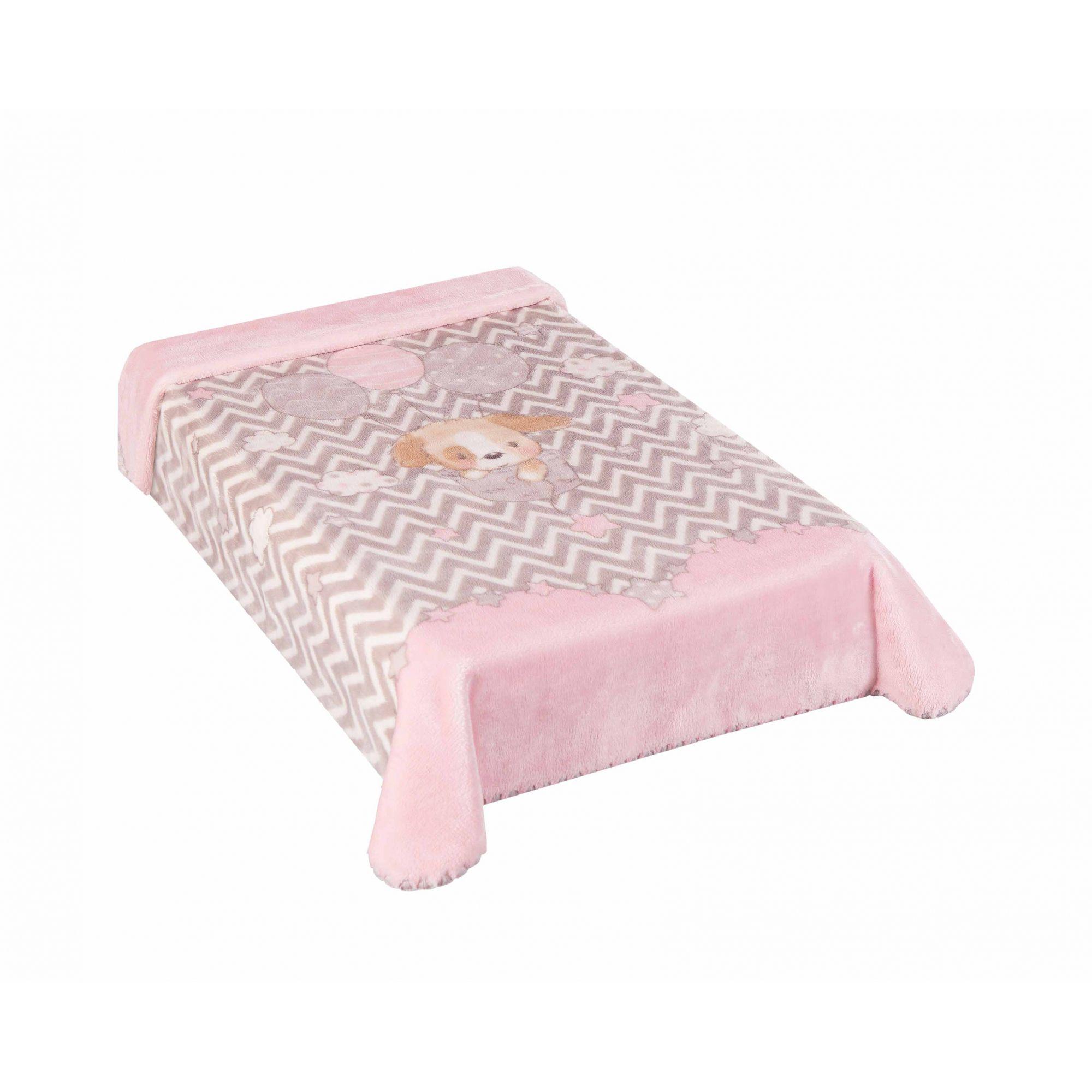 Cobertor Le Petit Cachorrinho Rosa