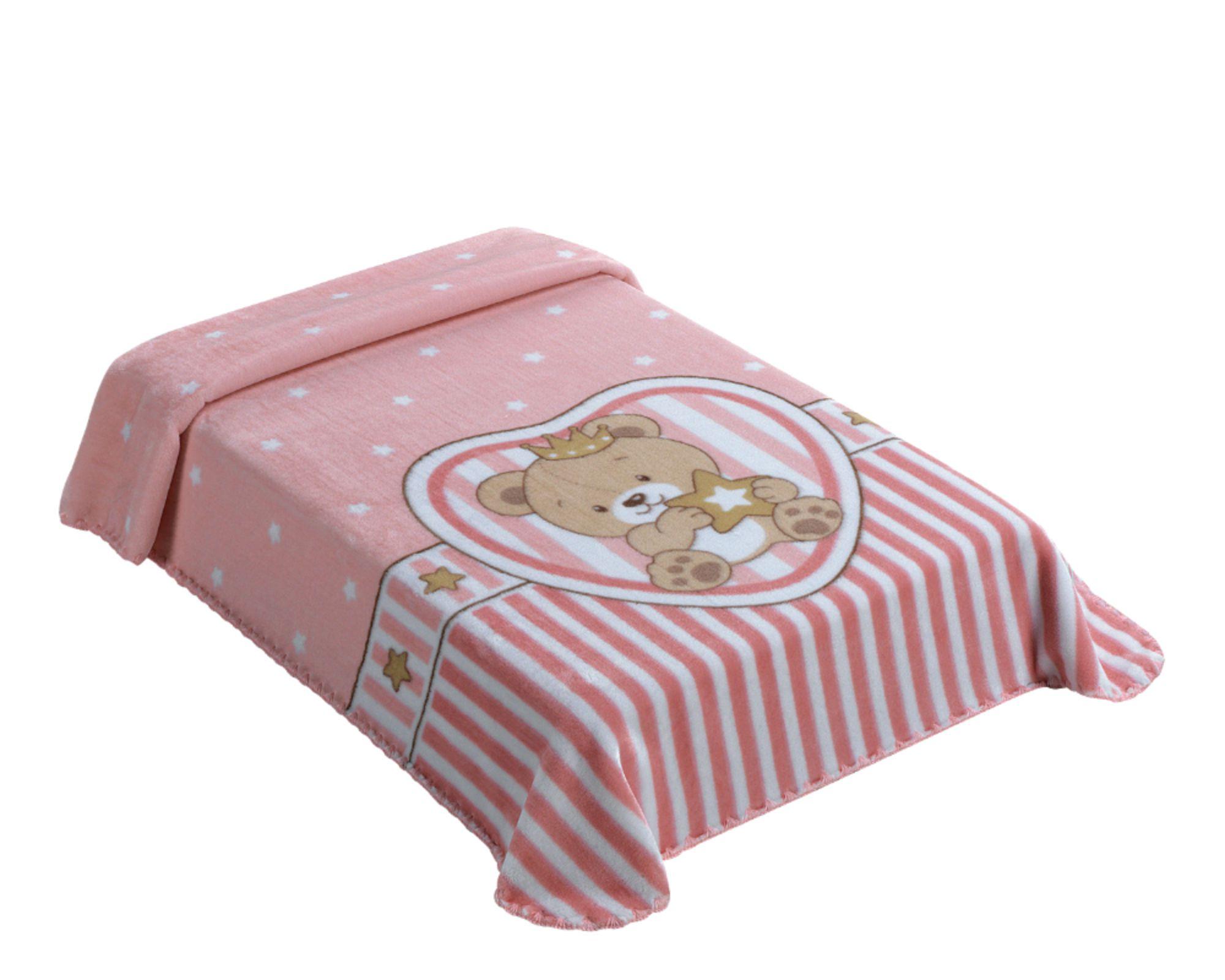 Cobertor Le Petit King Size Superstar Rosa
