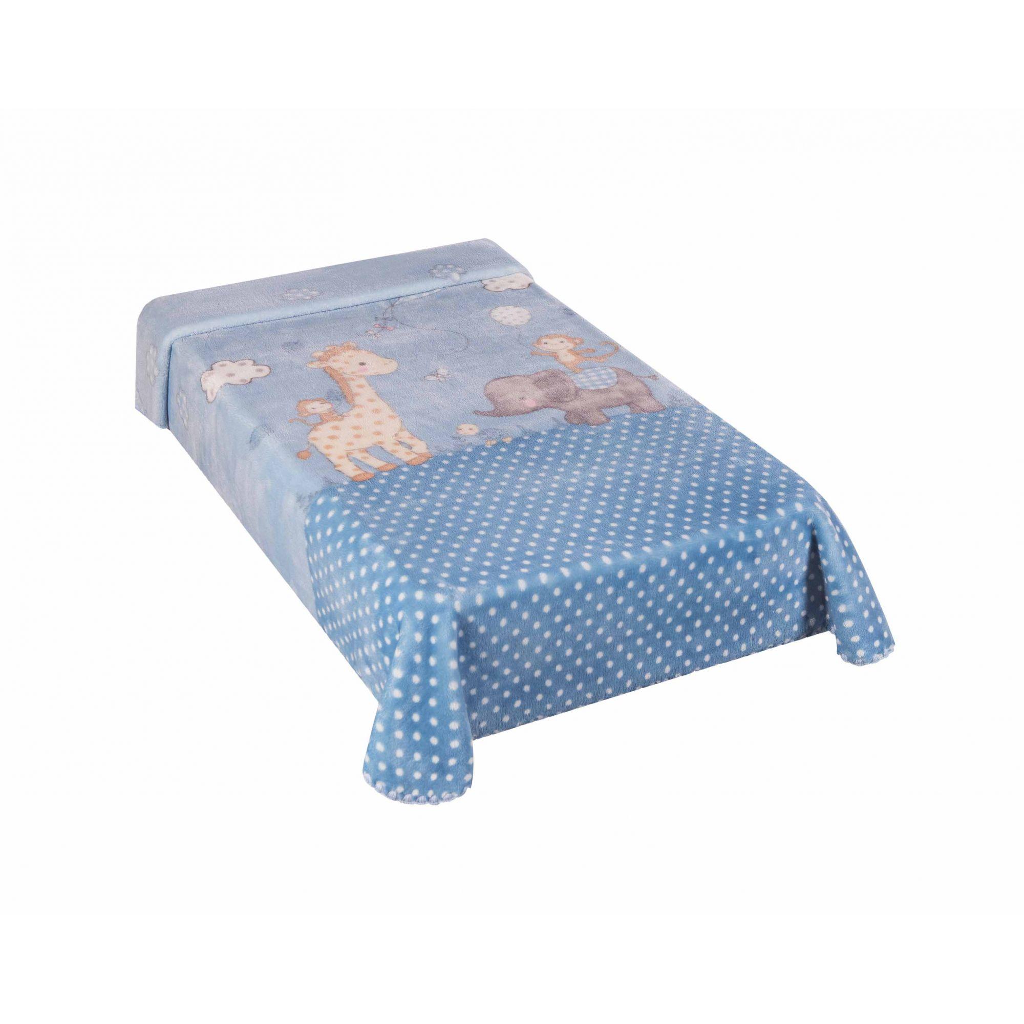 Cobertor Le Petit Zoo Azul