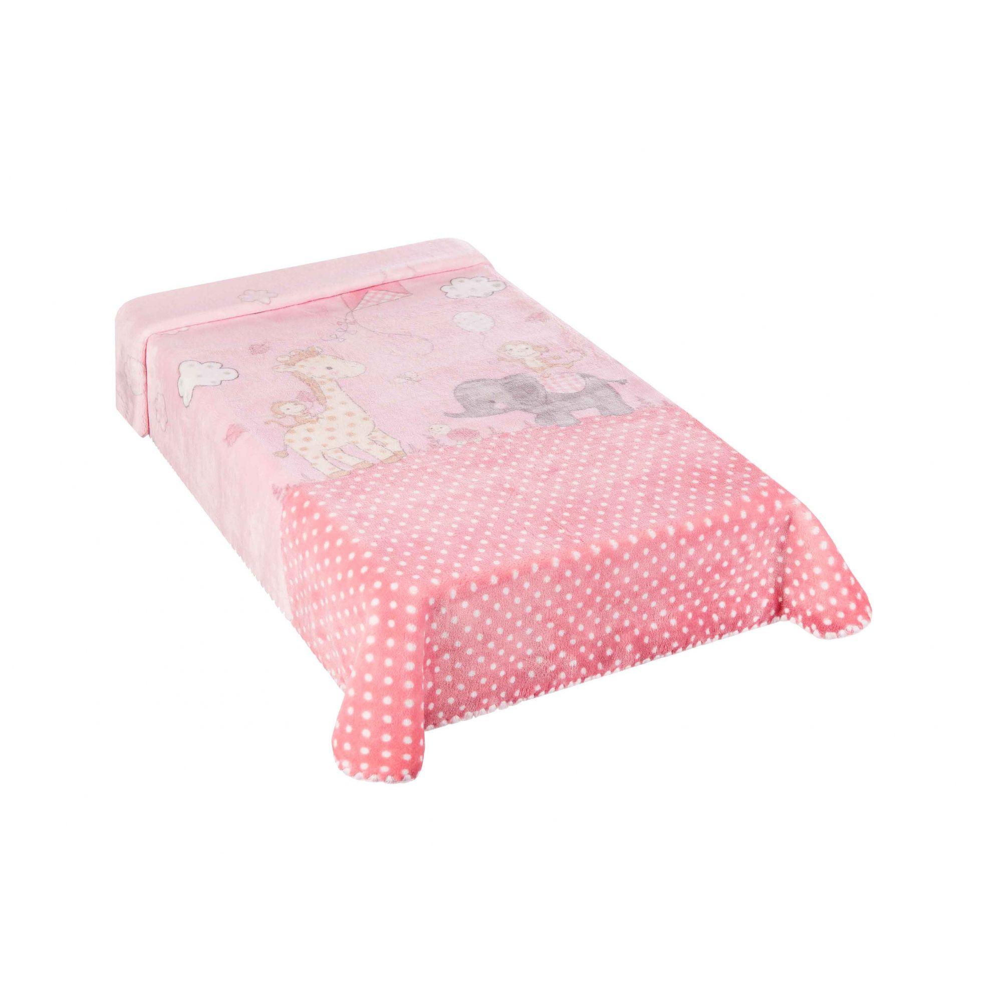 Cobertor Le Petit Zoo Rosa