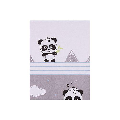 Jogo de Lençol Estampado para Carrinho Panda Azul