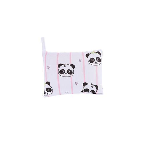 Jogo de Lençol Estampado para Carrinho Panda Rosa