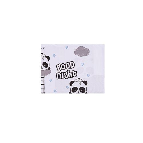 Jogo de Lençol Estampado para Berço Panda Azul