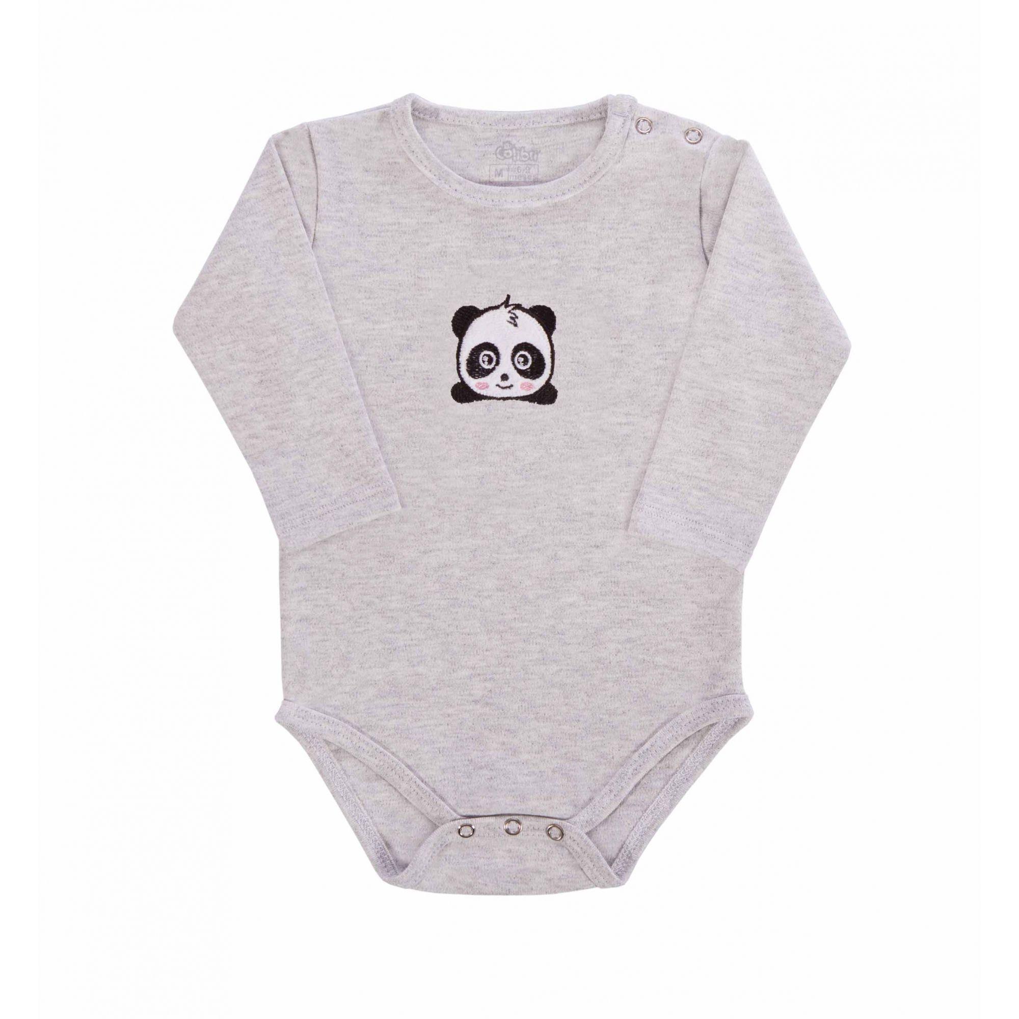 Kit 3 Peças - Body Touca e Luva Panda