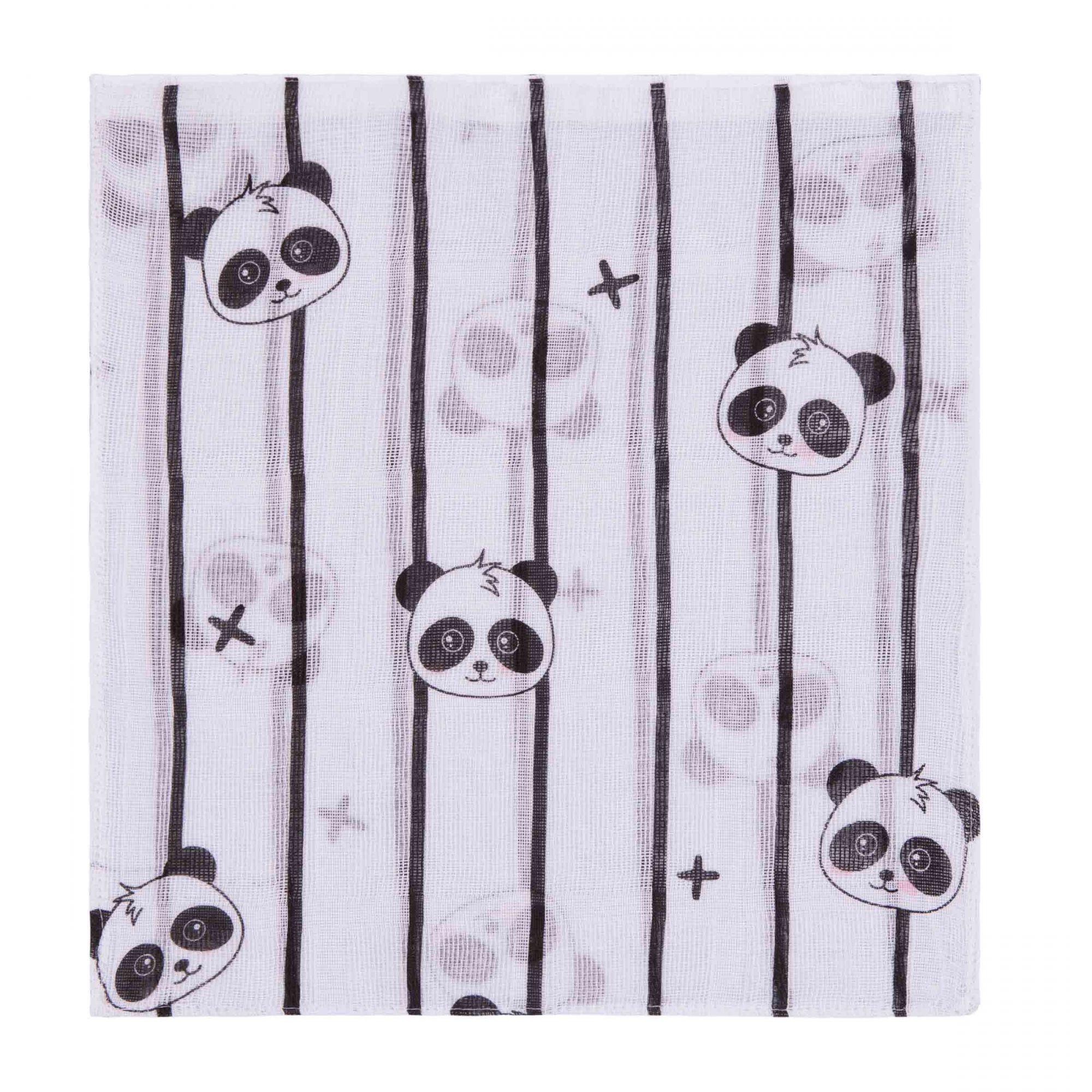 Kit Fralda Estampado Panda Amarelo