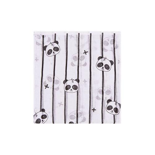 Kit Fralda Estampado Panda Azul