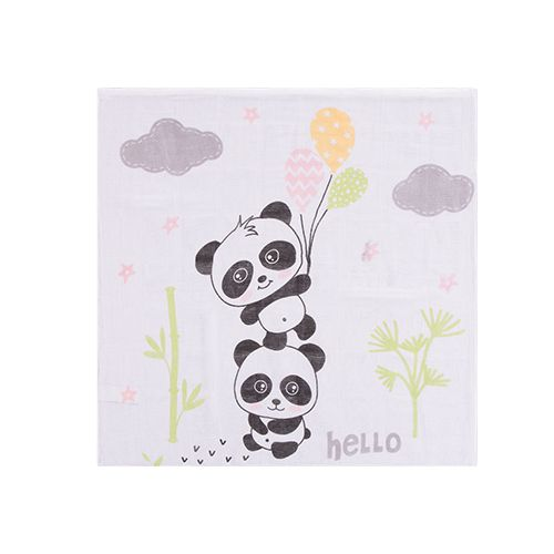 Kit Fralda Estampado Panda Rosa