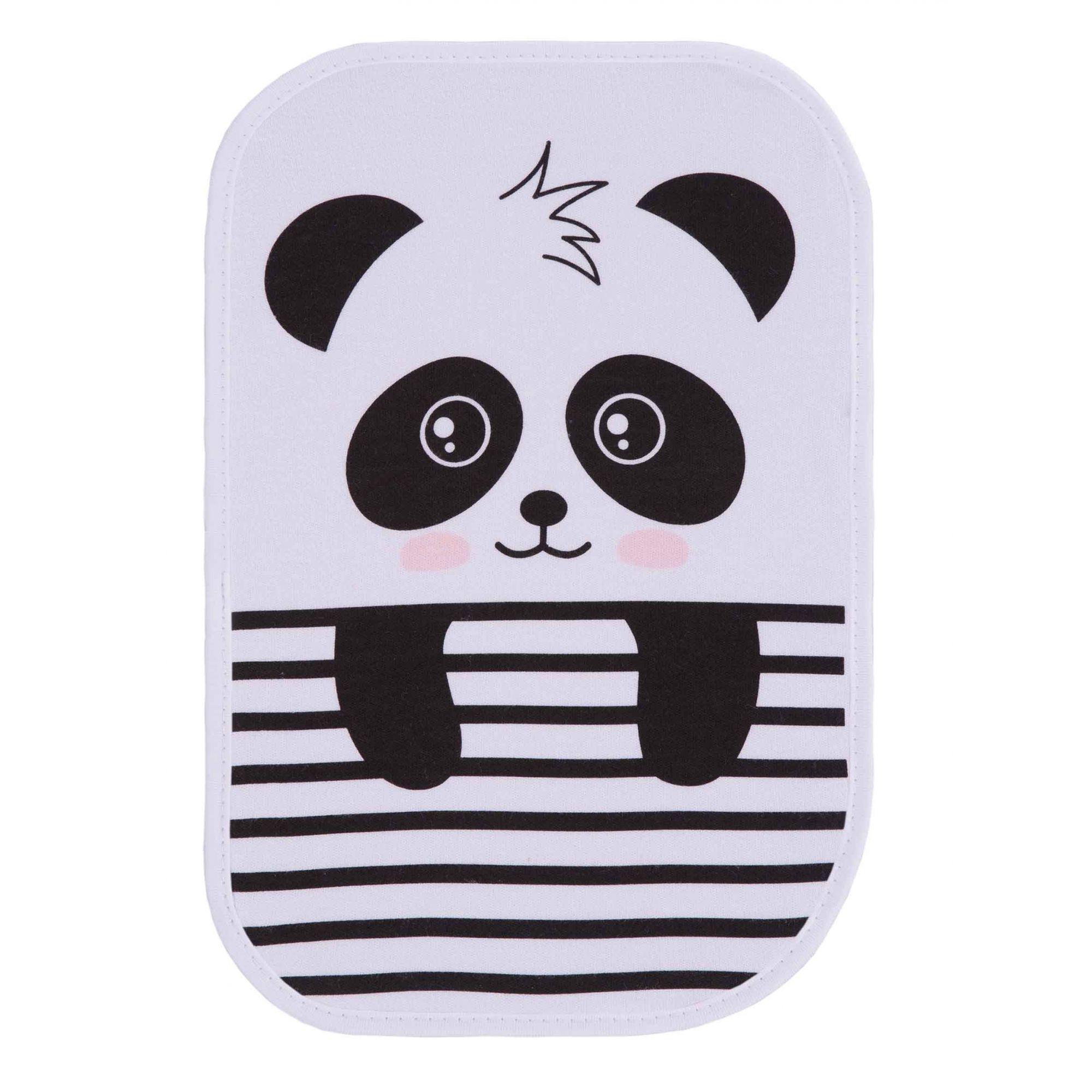 Kit Paninho de Boca Estampado Panda Amarelo