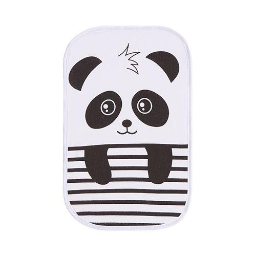 Kit Paninho de Boca Estampado Panda Azul