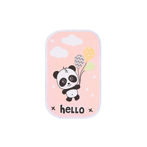 Kit Paninho de Boca Estampado Panda Rosa