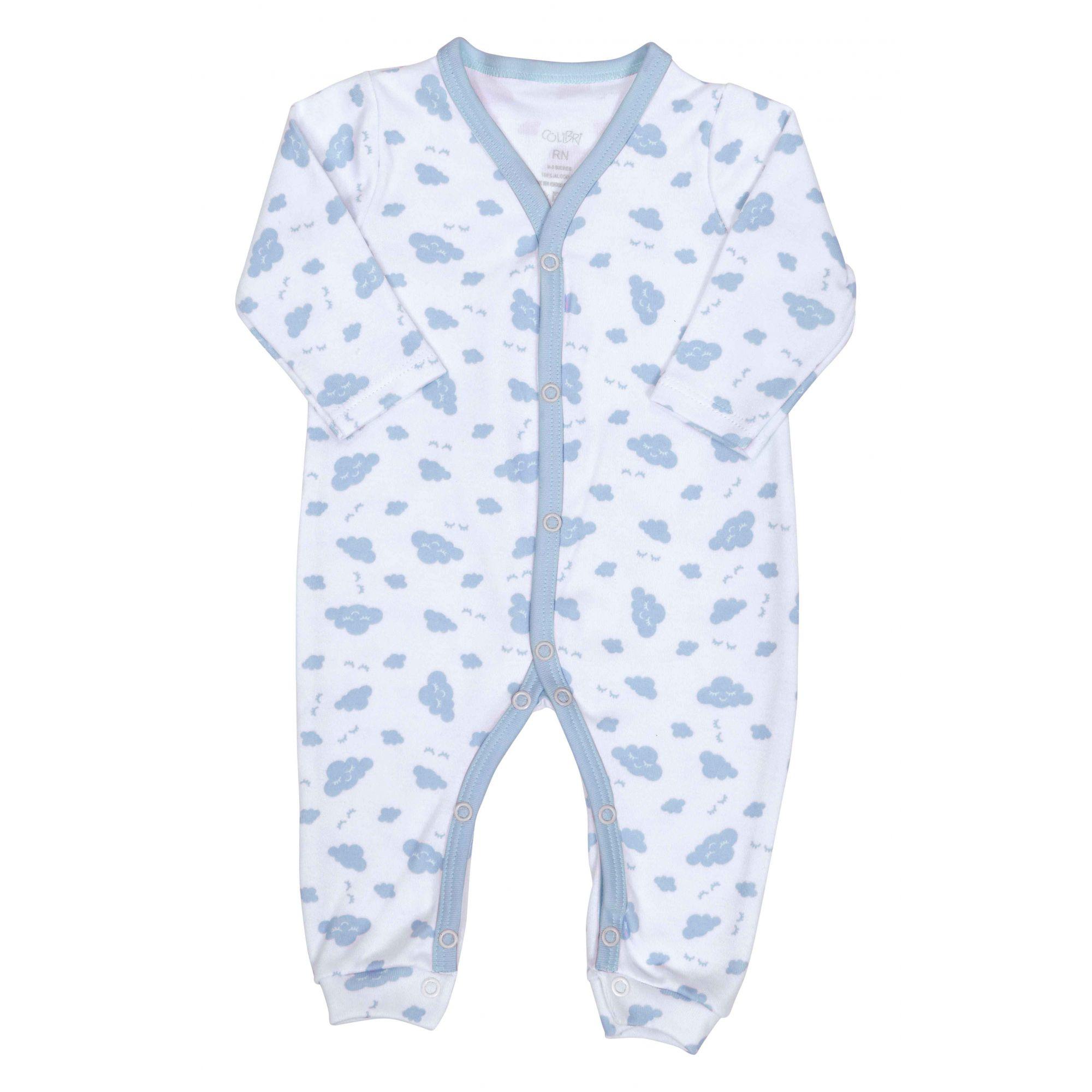Kit Pijama 2 Macacões Azul