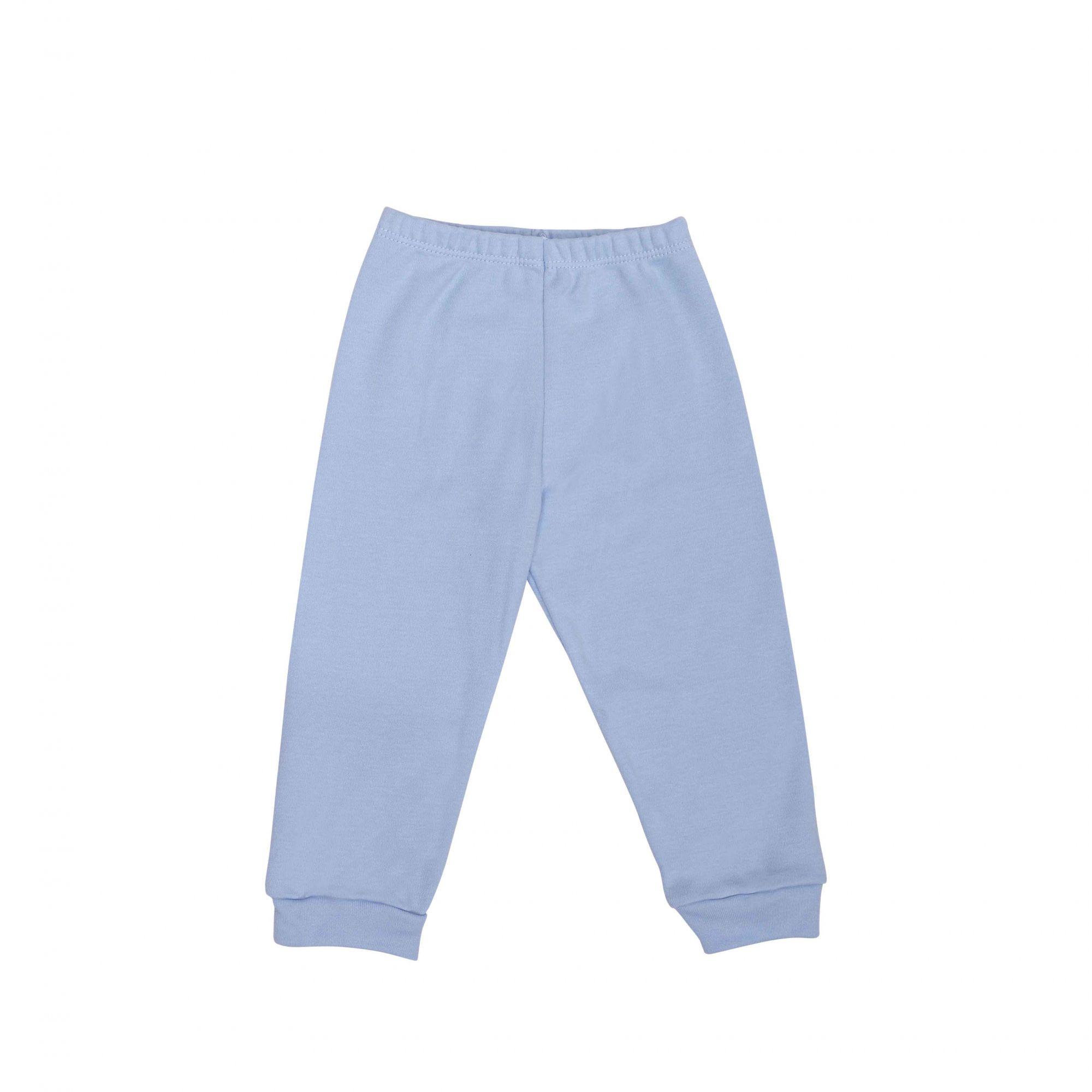 Kit Pijama Body Manga Curta e Calça Azul