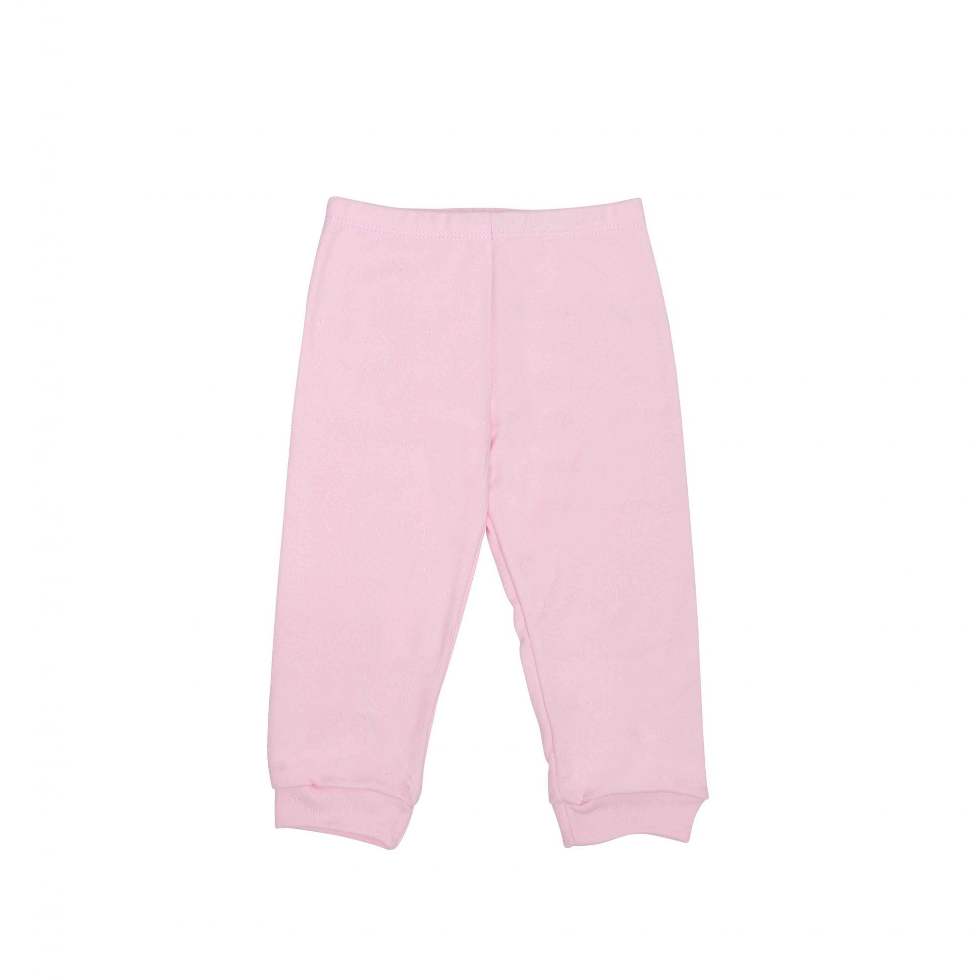 Kit Pijama Body Manga Curta e Calça Rosa