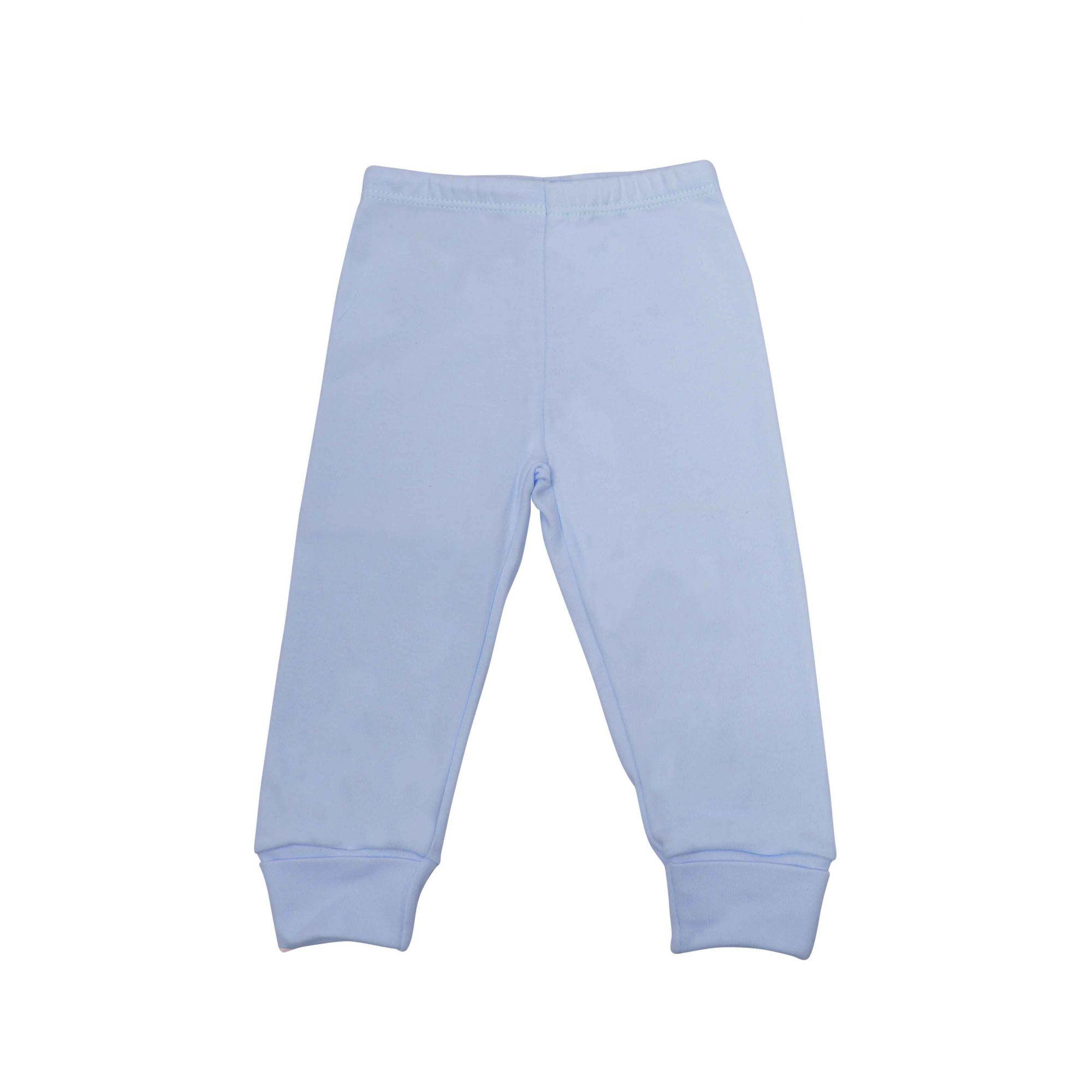 Kit Pijama Body Manga Longa e Calça Azul